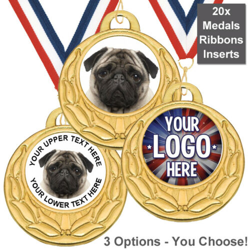 24x PRINTED DOG AGILITY TROPHY MEDAL INSERTS FLAT OR DOMED 25mm *NEW*