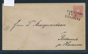 28867) Bahnpost L3 Hambourg Flensburg Cap Ii, Gau 1885-afficher Le Titre D'origine