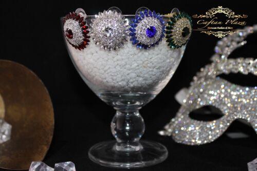 Brautschmuck Hochzeit Ohrringe Ohrstecker Silber Rot Klar Luxury