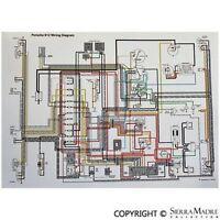 Full Color Wiring Diagram, Porsche 912, 5 Gauge, (66-68)