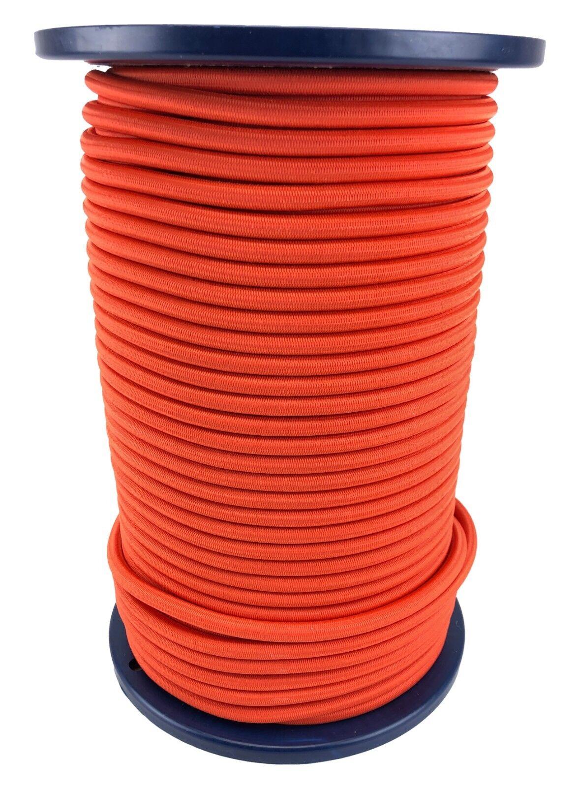 8mm Orange Elastischer Gummizug Seil Gummiseil Gepäck Unten Extra Stark