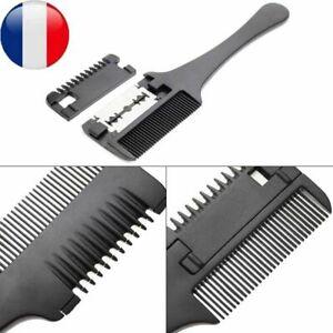 Cheveux-Rasoir-Peigne-Poignee-Coupe-Amincir-Peigne-Trimmer-Interieur-Lame-Brosse