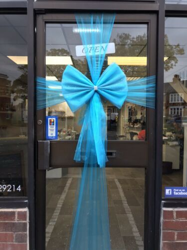 Wedding Baby Christening Turquoise Blue Christmas Door bow celebration