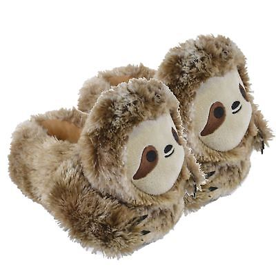 Mens Older Boys Fun /& Cosy Fluffy Brown Dog 3D Novelty Slippers in 3 UK Sizes
