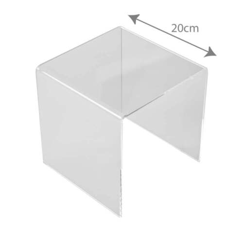 Acrylic//PERSPEX® 20cm 3 Sided Stand Retail//Shop//Gift//Cabinet//Window Display