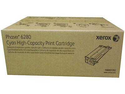 for Phaser 6280 Printers 5.9K YLD OEM 106R01392 Xerox Genuine Brand Name High Capacity Cyan Toner Cartridge 106R1392
