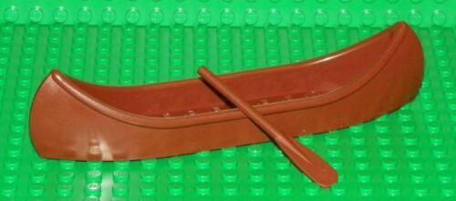 LEGO Reddish Brown Minifig Utinsil Canoe with Paddle
