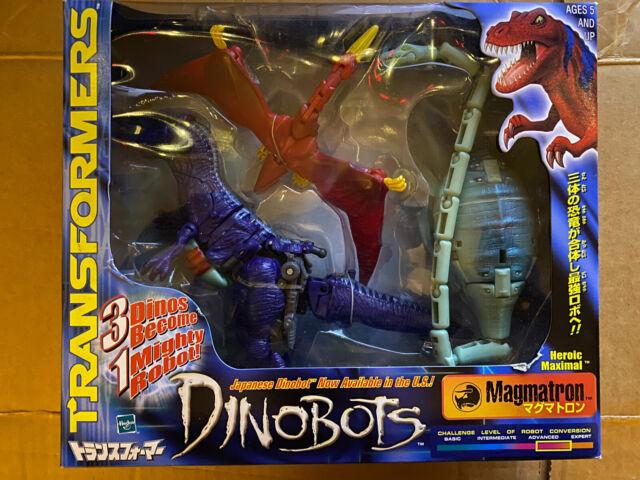2000 Hasbro Transformers Beast Wars BW Dinobot  Magmatron  Heroic Maximal New