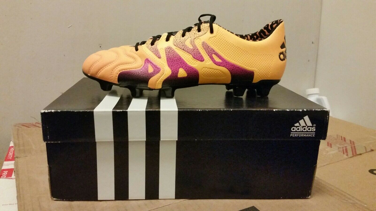 Adidas X 15.1 FG AG Leather Soccer Cleats- Mens size 9