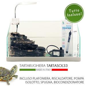 Tartarughiera per rettili mtb tartasol 33 tartaruga vetro for Tartarughiera