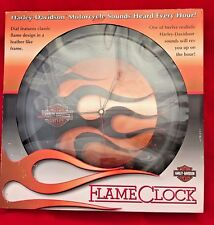 NEW RARE 2006 HARLEY DAVIDSON FLAMES CLOCK MOTORCYCLE SOUNDS NOS EC