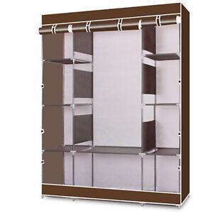 portable clothes closet wardrobe home rack storage. Black Bedroom Furniture Sets. Home Design Ideas