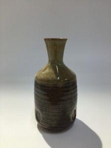 Japonais-Pottery-Sake-Bouteille-Tokkuri-Vintage-Signe-Akasaka-Liqueur-Yakimono