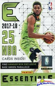 2017-18-Panini-Essentials-Basketball-Factory-Sealed-HANGER-Box-GREEN-PARALLELS