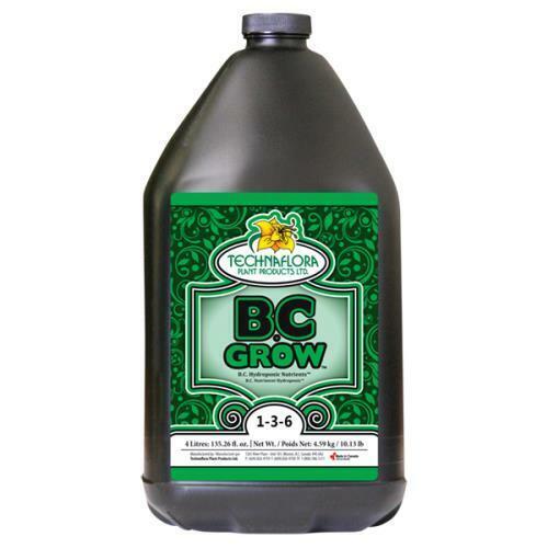 Technaflora B.C. Grow 1 Gallon - BC Hydroponics Nutrients 3 Part Complete Base