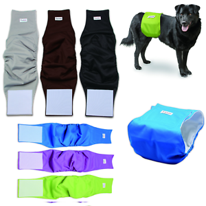 Absorbent Washable Reusable Belly Band Waterproof Male Dog Diaper -Teal and Black Animal   Available in all Sizes
