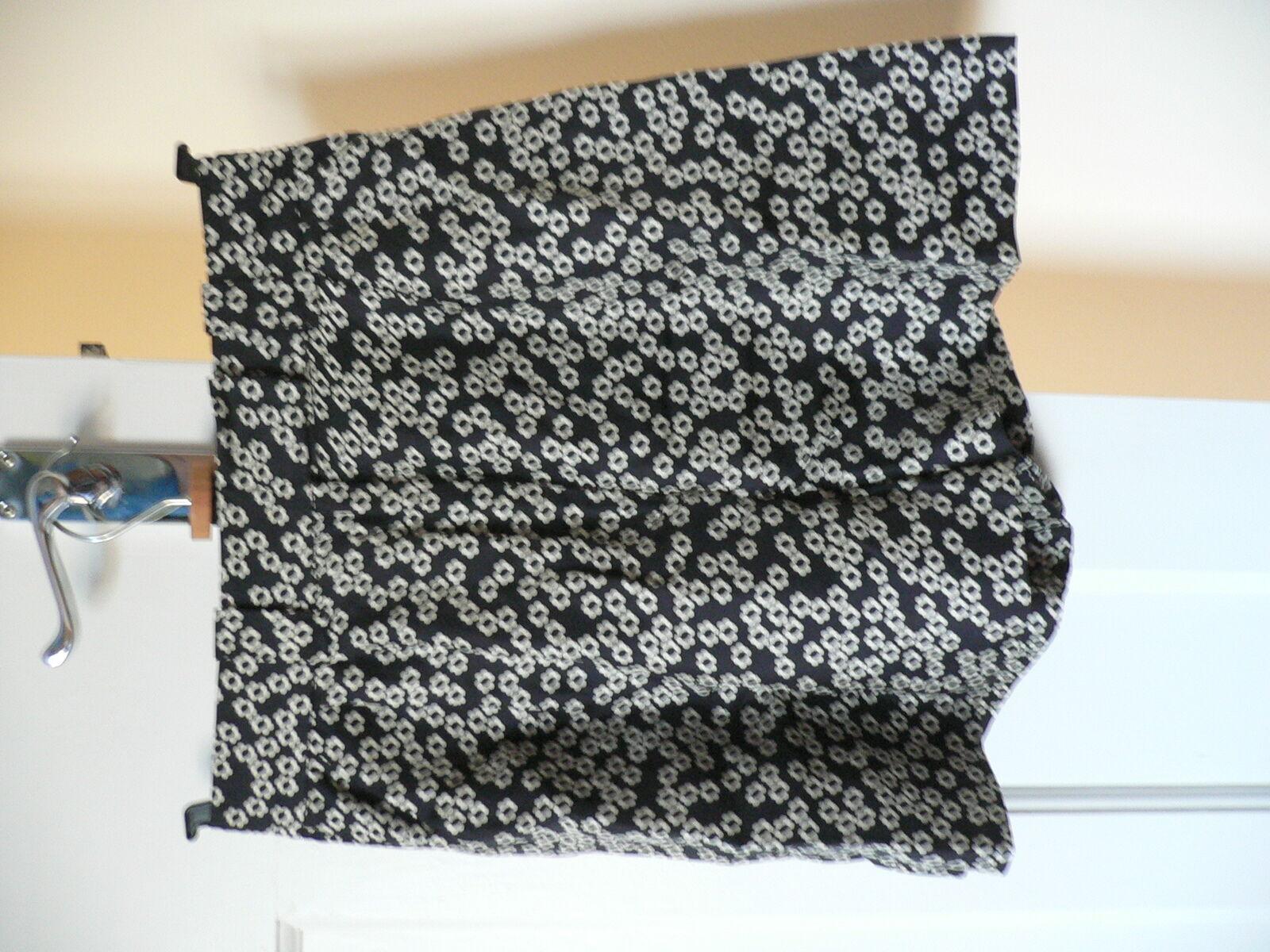Orla Kiely Donna 100% 100% 100% Silk Shorts bianca Navy nero Floral used-1 621337