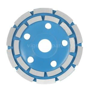"125mm 5"" Diamond Segment Grinding Wheel Bowl Shape Disc Cup 22mm Inner Hole Q9H5"