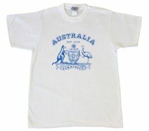 Adult-T-Shirt-Australian-Australia-Day-Souvenir-100-Cotton-Coat-of-Arms