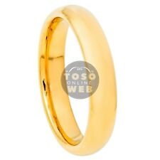 Details about  /Women/'s 4mm Dome Brushed Finish Yellow Gold ion Plated Tungsten Ring TS7960
