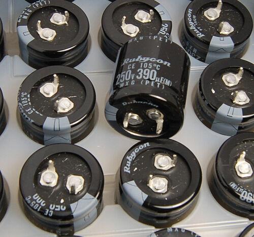 1x 390uf 250v Electrolytic Capacitor 250v390uf Rubycon MXG 25x25mm JAPAN