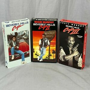 Lot Of 3 Beverly Hills Cop I, II and III VHS Tapes Eddie Murphy Axel Foley