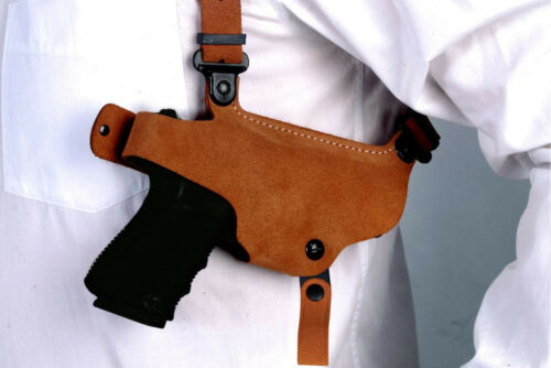 Nubuck Leather Shoulder Holster Fits Kimber Micro 9mm Right Hand Draw  #1528#