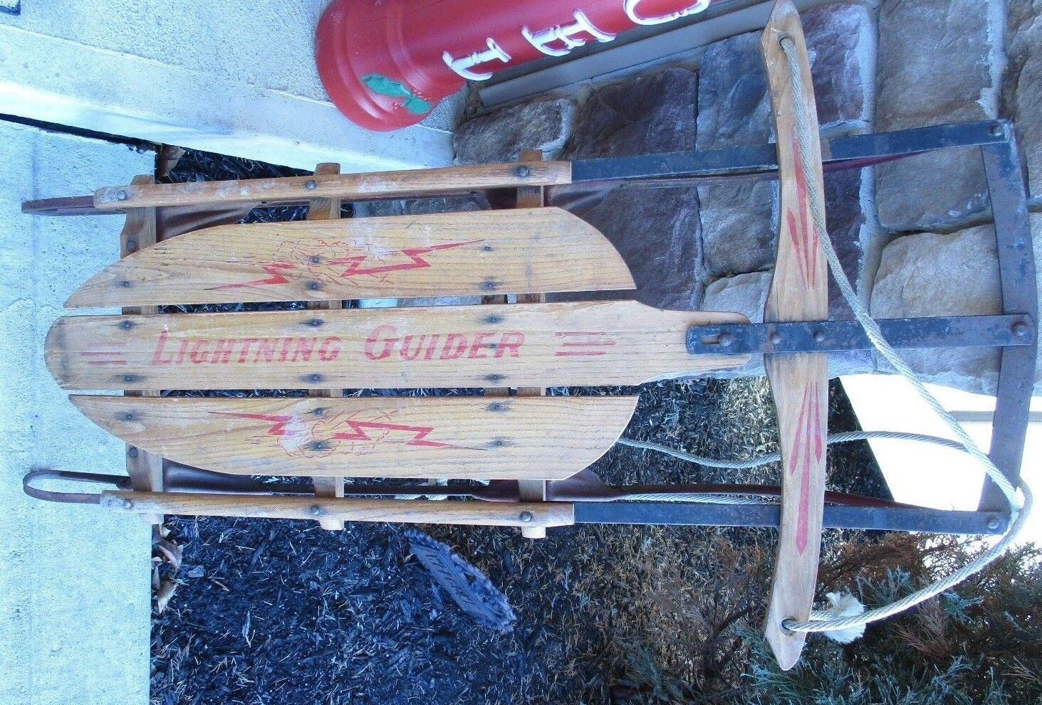 Vintage  Lightening Guider  Snow Sled Standard Novelty Works -  PA