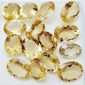 Wholesale-Lot-10x8mm-Oval-Facet-Natural-Citrine-Loose-Calibrated-Gemstone-Brazil
