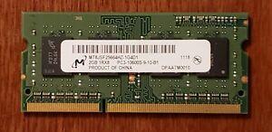 Micron 2GB 1Rx8 PC3-10600S SO-Dimm Laptop Memory RAM MT8JSF25664HZ-1G4D1