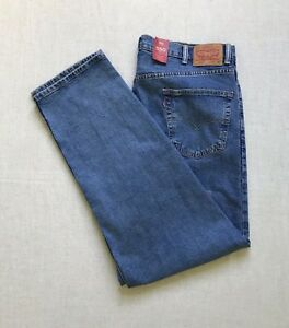Details about NWT MENS 42X34 LEVIS 550 CLASSIC RELAXED FIT STRETCH DENIM BLUE JEANS