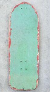Vintage-70s-80s-Alva-Blank-Skateboard-deck-and-spacers-Used-Big-ramp-bowl-Board