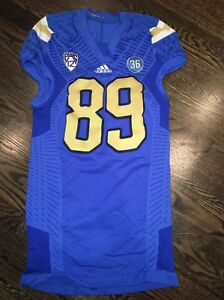 promo code 291ac 43ad6 Details about Game Worn UCLA Bruins Football Jersey Used adidas #89 Size XL