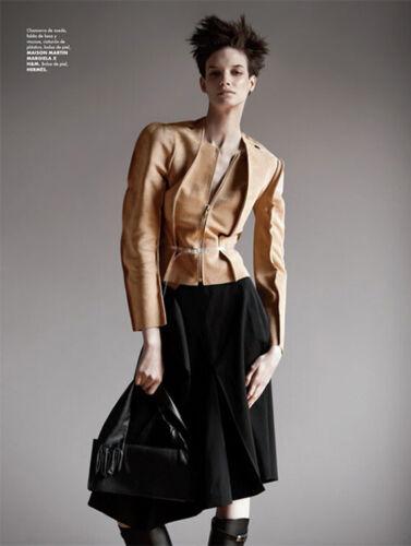 MAISON MARTIN MARGIELA H&M Beige Suede Leather Jac