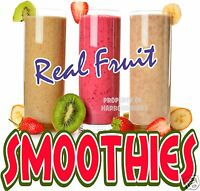 "Smoothies Decal 14"" Fresh Fruit Drink Concession Food Truck Vinyl Sign Menu"
