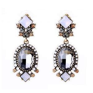 1Pair-Elegant-Women-White-Resin-Gray-Crystal-Ear-Stud-Eardrop-Earring-Jewelry