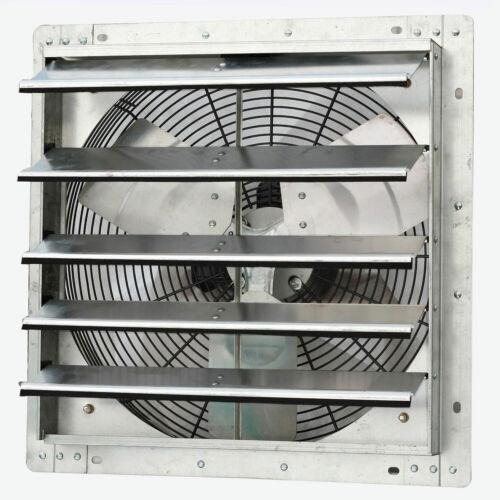 """Obturateur monté de Ventilateur D/'échappement 18/"""" automatique Antidéflagrant Garage air froid Lames"""