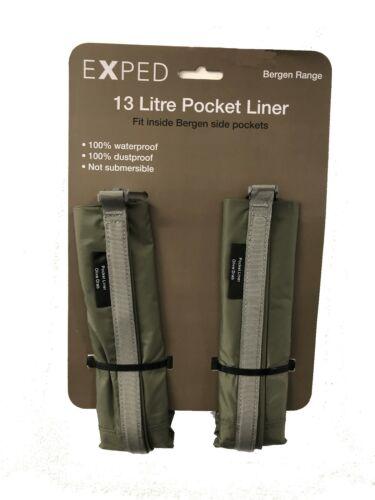 Exped 100/% Waterproof 2 x 13 Litre Bergen Pocket Liners