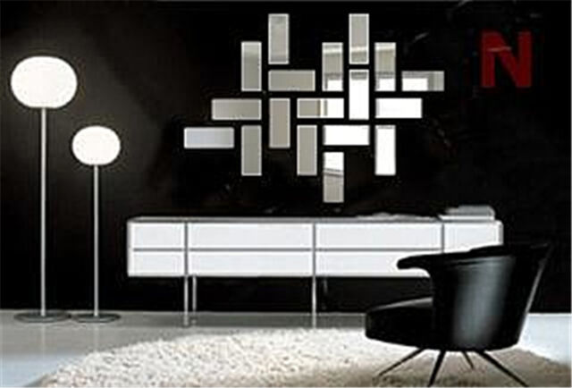 Abstract Groups Acrylic Plastic Mirror Wall Home Decal Decor Vinyl Art Stickers