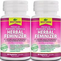 Herbal Feminizer Female Hormone Estrogen Breast Enlargement 120 Vegetarian Caps