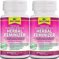 Herbal Feminizer Female Hormone Estrogen Breast Enlargement 120 Vegetarian Caps