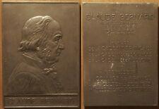 Grande plaque/Médaille, Claude Bernard 1813-1878, Membre de l'Académie Française