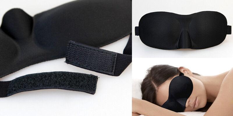 4x 3D Sleeping Eye Mask Blindfold Sleep Travel Shade Relax Cover Light Blinder 3