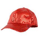 Women Men Shining Sequin Baseball Hat Sequined Glitter Dance Party Cap Clubwear