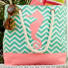 Beach Bags And Totes Summer Chevron Bag For Girls Teens Women Travel Seahorse