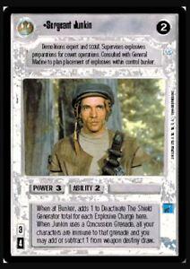 Star Wars CCG Sergeant JunkinEndorNM//Mint Bonus