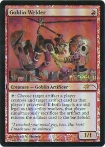 Magic-The-Gathering-MTG-Goblin-Welder-Foil-Promo-Trading-Card-LP