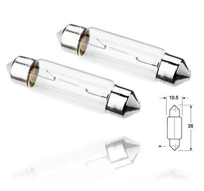 Licence Plate Light Bulbs Pair 2x C5W Standard Halogen Neolux Rear Number