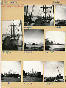 DUNKERQUE-c-1950-Le-Port-Grues-Cargos-Nord-Pl-112