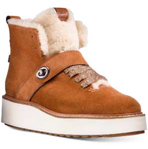 NEW Coach Women's Urban Hiker Fashion Boots Size 8.5 B Saddle / Natural $219